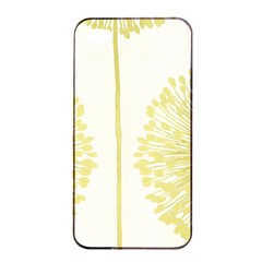 Flower Floral Yellow Apple Iphone 4/4s Seamless Case (black) by Mariart