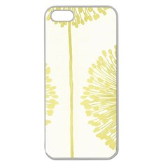 Flower Floral Yellow Apple Seamless Iphone 5 Case (clear) by Mariart