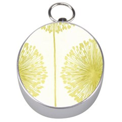 Flower Floral Yellow Silver Compasses by Mariart