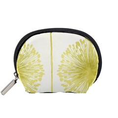 Flower Floral Yellow Accessory Pouches (small)
