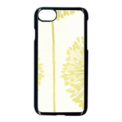 Flower Floral Yellow Apple Iphone 7 Seamless Case (black) by Mariart