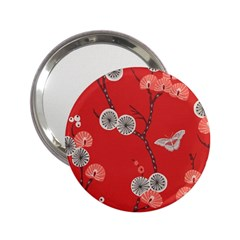 Dandelions Red Butterfly Flower Floral 2 25  Handbag Mirrors by Mariart