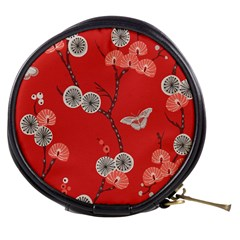 Dandelions Red Butterfly Flower Floral Mini Makeup Bags