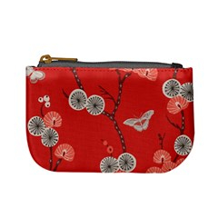 Dandelions Red Butterfly Flower Floral Mini Coin Purses by Mariart