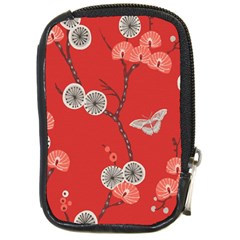 Dandelions Red Butterfly Flower Floral Compact Camera Cases by Mariart