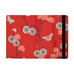 Dandelions Red Butterfly Flower Floral Apple Ipad Mini Flip Case by Mariart