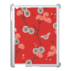 Dandelions Red Butterfly Flower Floral Apple Ipad 3/4 Case (white) by Mariart
