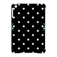 Flower Frame Floral Polkadot White Black Apple Ipad Mini Hardshell Case (compatible With Smart Cover) by Mariart