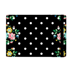 Flower Frame Floral Polkadot White Black Ipad Mini 2 Flip Cases by Mariart