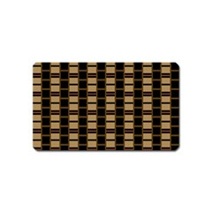 Geometric Shapes Plaid Line Magnet (name Card) by Mariart