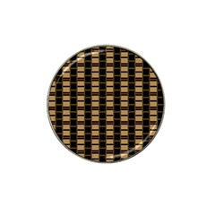 Geometric Shapes Plaid Line Hat Clip Ball Marker by Mariart
