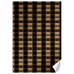 Geometric Shapes Plaid Line Canvas 12  X 18   by Mariart