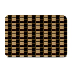 Geometric Shapes Plaid Line Plate Mats by Mariart