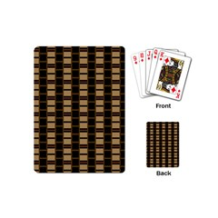 Geometric Shapes Plaid Line Playing Cards (mini)  by Mariart