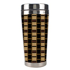 Geometric Shapes Plaid Line Stainless Steel Travel Tumblers by Mariart