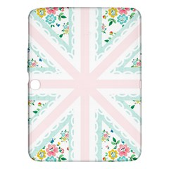 Frame Flower Floral Sunflower Line Samsung Galaxy Tab 3 (10 1 ) P5200 Hardshell Case  by Mariart
