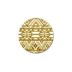Geometric Seamless Aztec Gold Golf Ball Marker (10 Pack) by Mariart