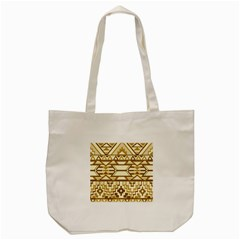 Geometric Seamless Aztec Gold Tote Bag (cream) by Mariart