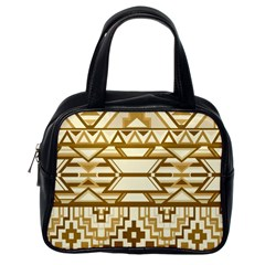 Geometric Seamless Aztec Gold Classic Handbags (one Side) by Mariart