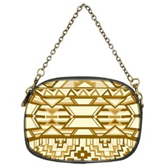 Geometric Seamless Aztec Gold Chain Purses (two Sides)  by Mariart