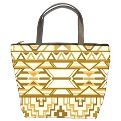 Geometric Seamless Aztec Gold Bucket Bags by Mariart