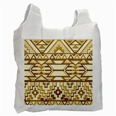 Geometric Seamless Aztec Gold Recycle Bag (one Side) by Mariart