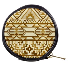 Geometric Seamless Aztec Gold Mini Makeup Bags