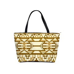 Geometric Seamless Aztec Gold Shoulder Handbags by Mariart