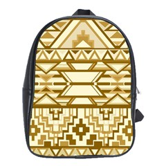 Geometric Seamless Aztec Gold School Bags(large)
