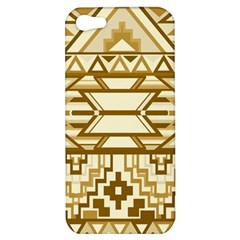 Geometric Seamless Aztec Gold Apple Iphone 5 Hardshell Case by Mariart