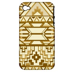 Geometric Seamless Aztec Gold Apple Iphone 4/4s Hardshell Case (pc+silicone) by Mariart