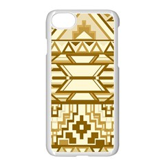 Geometric Seamless Aztec Gold Apple Iphone 7 Seamless Case (white) by Mariart