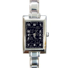 Geometry Geometry Formula Rectangle Italian Charm Watch by Mariart