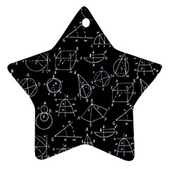 Geometry Geometry Formula Star Ornament (two Sides) by Mariart