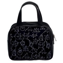 Geometry Geometry Formula Classic Handbags (2 Sides) by Mariart