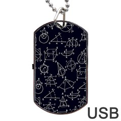 Geometry Geometry Formula Dog Tag Usb Flash (two Sides) by Mariart
