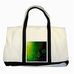 Geometric Shapes Letters Cubes Green Blue Two Tone Tote Bag by Mariart