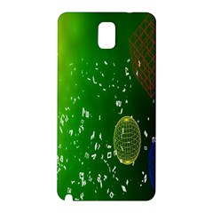Geometric Shapes Letters Cubes Green Blue Samsung Galaxy Note 3 N9005 Hardshell Back Case by Mariart