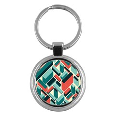 German Synth Stock Music Plaid Key Chains (round)  by Mariart