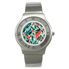 German Synth Stock Music Plaid Stainless Steel Watch by Mariart