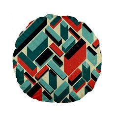 German Synth Stock Music Plaid Standard 15  Premium Flano Round Cushions by Mariart