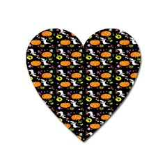 Ghost Pumkin Craft Halloween Hearts Heart Magnet by Mariart
