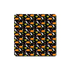 Ghost Pumkin Craft Halloween Hearts Square Magnet by Mariart