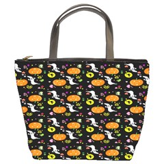 Ghost Pumkin Craft Halloween Hearts Bucket Bags by Mariart