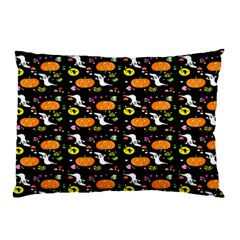 Ghost Pumkin Craft Halloween Hearts Pillow Case by Mariart