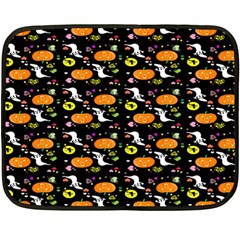 Ghost Pumkin Craft Halloween Hearts Fleece Blanket (mini) by Mariart