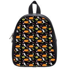 Ghost Pumkin Craft Halloween Hearts School Bags (small)  by Mariart