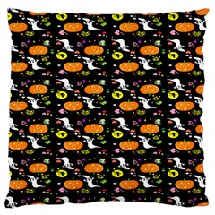 Ghost Pumkin Craft Halloween Hearts Large Cushion Case (one Side) by Mariart