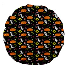Ghost Pumkin Craft Halloween Hearts Large 18  Premium Round Cushions by Mariart
