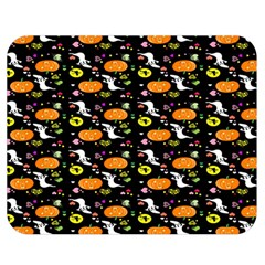 Ghost Pumkin Craft Halloween Hearts Double Sided Flano Blanket (medium)  by Mariart